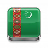 Metal  icon of Turkmenistan