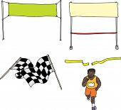 Finish Line Cartoons