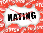 stock photo of hate  - Vector illustration of stop hating concept background - JPG