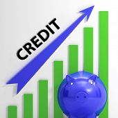 Credit Graph Means Financing Lending And Repayments