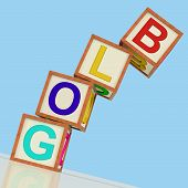 Blog Blocks Show Blogger Internet And Niche