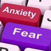 Anxiety Fear Keys Means Anxious And Afraid