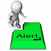 Alert Key Shows Online Notification Or Reminder
