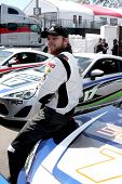 LOS ANGELES - APR 1:  Max Thieriot at the Toyota Grand Prix of Long Beach Pro/Celebrity Race Press D