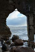 Frozen Sea Through The Arch