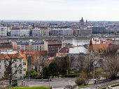 Budapest, Hungary, on March 24, 2014. View of Danube and Pesht from Buda Castle