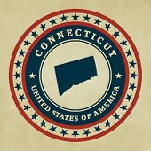Vintage Label Connecticut