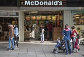 STUTTGART, GERMANY - APRIL 01, 2014: McDonalds restaurant. McDonald's Corporation is the world's lar