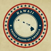 Vintage Label Hawaii