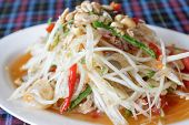 Thai Papaya Spicy Salad, Som Tum.
