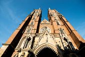 WROCLAW, POLAND - AUGUST 23: Cathedral of St. John the Baptist, The building was built in the Gothic