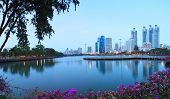 Landscape Of Beautiful Water Pool Important Landmark Of City Life In Bangkok Capital Of Thailand Vie