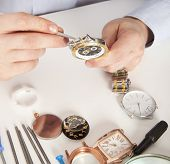 ������, ������: Watchmaker Watch repair craftsman repairing watch