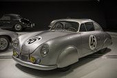 STUTTGART, GERMANY - CIRCA APRIL, 2014: Porsche Museum. PORSHE 356 SL Coupe (1950)