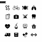 Health Icon set. Vector