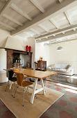 comfortable living room, interior of a nice loft