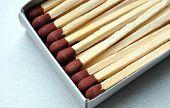 wooden matchsticks