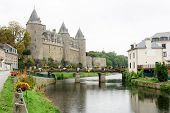 stock photo of chateau  - The Chateau of Josselin - JPG