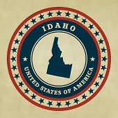 Vintage Label Idaho