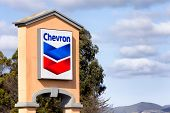 Chevron Gas Station Sign