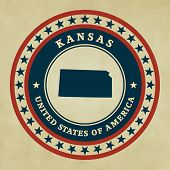 Vintage Label Kansas