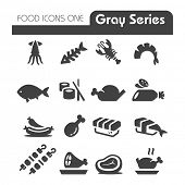 Meat Icons Gray Series