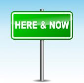 Here And Now Signpost