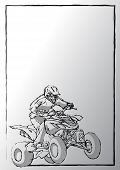 Pencil Sketching Of Motosport