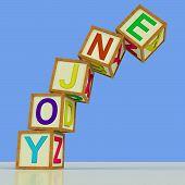 Enjoy Blocks Mean Recreation Play Or Fun