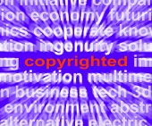 Copyright Word Shows Ownership Of Intellectual Or Patented Property