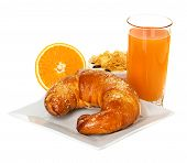 Breakfast With Croissant, Orange Juice