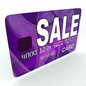 Sale On Credit Debit Card Shows Offer Bargain Promotion