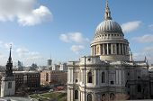 St Pauls Cathedral from rooftop viewing platform of One New Change