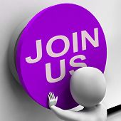 Join Us Button Means Register Volunteer Or Sign Up