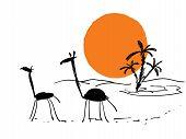 Scribbles African Sketch