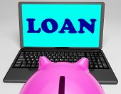 pic of borrower  - Loan Laptop Meaning Lending And Borrowing Money - JPG