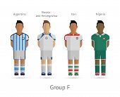Football teams. Group F