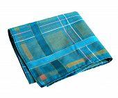 Blue green handkerchief