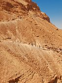 image of masada  - road in fortress Masada Israel - JPG