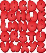 Graffiti font alphabet different letters. Vector