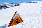 Snow Danger Sign