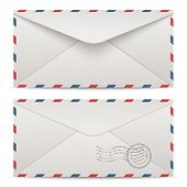 Air mail envelopes. Vector