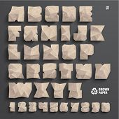 Vector Brown Paper Alphabet Set