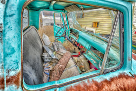 picture of cisco  - Abandoned shattered motor vehicles in the ghost town of Cisco Utah - JPG