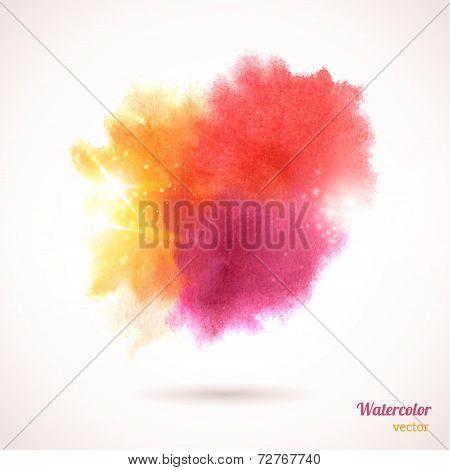 Watercolor texture - Фото, изображение, купить постеры, заказать плакаты, картины на холсте. - - Posterok.com RUS (RUB)