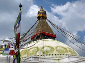 picture of nepali  - Frontal view of the largest stupa of the world - JPG