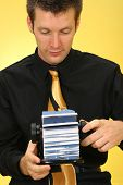 Business Man With Rolodex