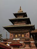 Large Temple At The Heart Of Kathmandu Durbar Square