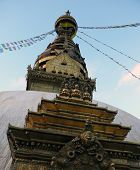 The Swayambhunath Temple From Below