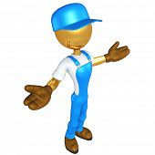 Gold Guy Worker
